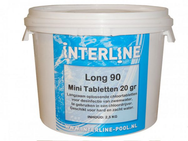 Interline chloortabletten long 90 20 gram/2.5kg 52781209