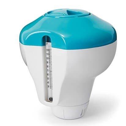 Intex 2 in 1 chloordrijver met thermometer 29043