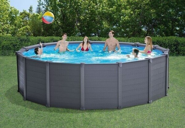 Intex zwembad graphite panel 478 X124 CM 26382GN