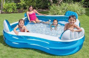 Opblaasbaar zwembad met stoeltjes - 56475