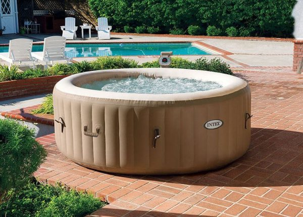 Intex bubbel jacuzzi 4 personen met energy efficient spa cover - 28474NL