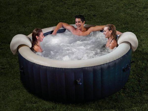 Intex opblaasbare bubbel spa navy 4-personen 28430NL
