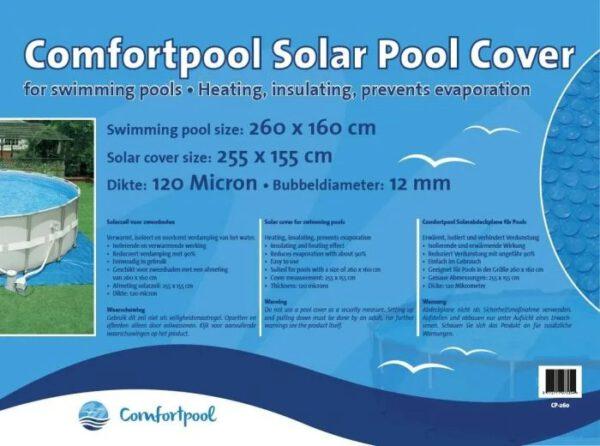Comfortpool solarzeil 260 x 160 cm